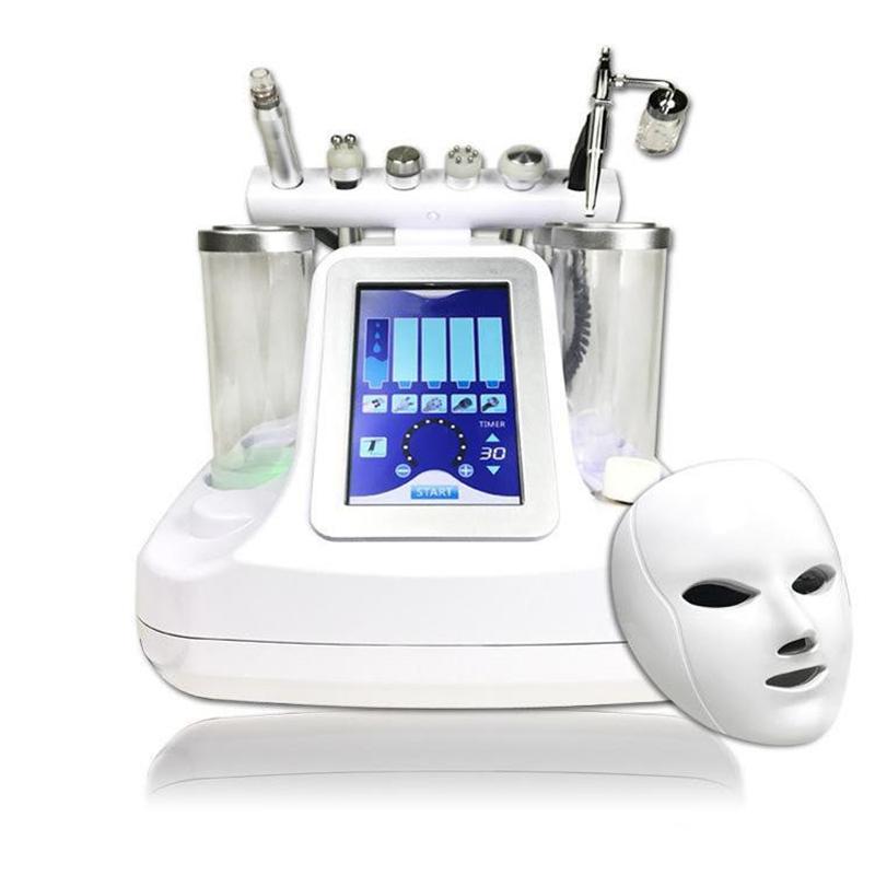 7 à 1 marteau bio rf hydro microdermabrasion eau hydra spa dermabrasion la peau du visage machine de nettoyage des pores