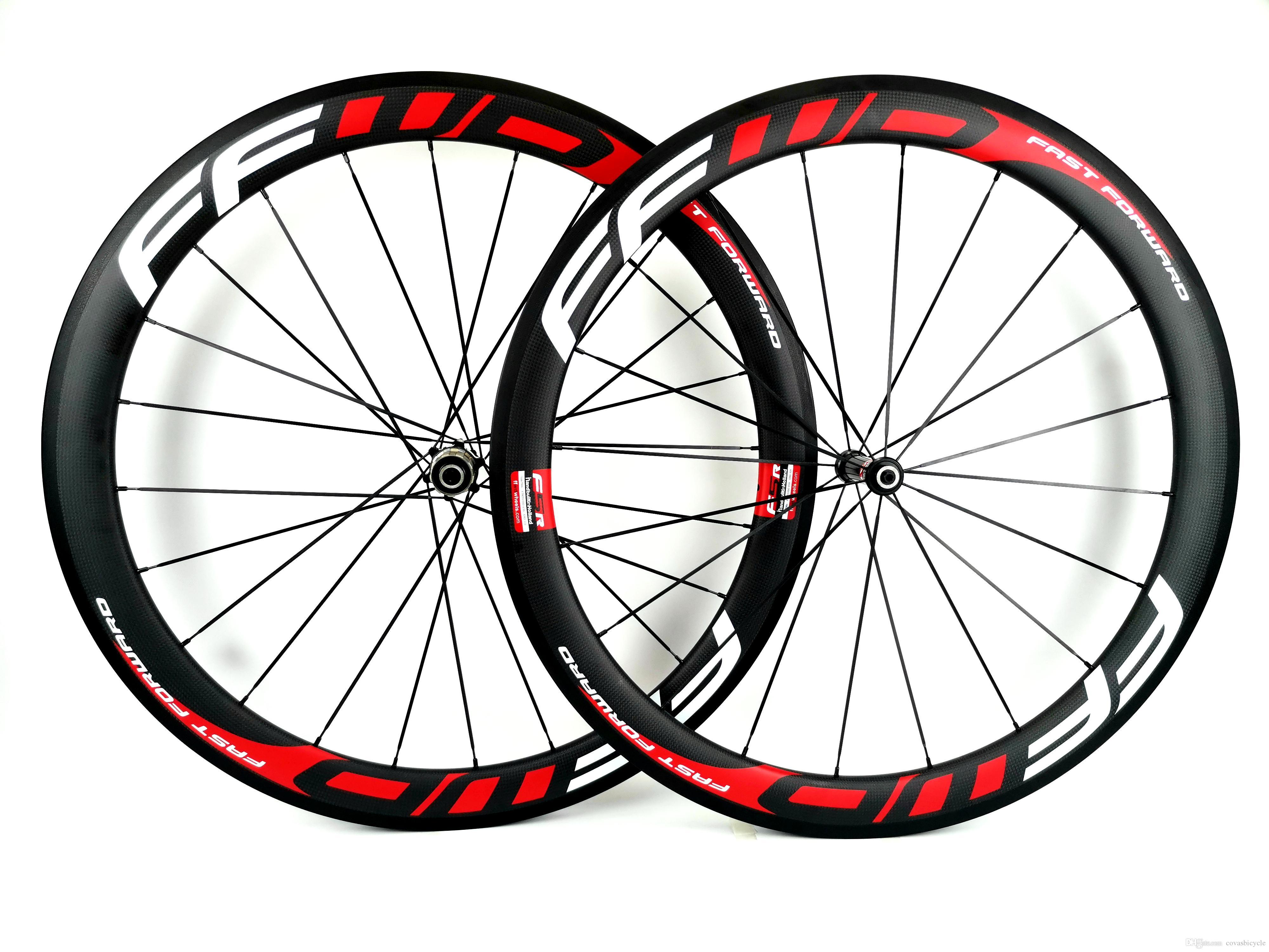 700C 50mm depth Road bike carbon wheels RACE 50 road bike 25mm width bicycle clincher/Tubular carbon wheelset U-shape rims