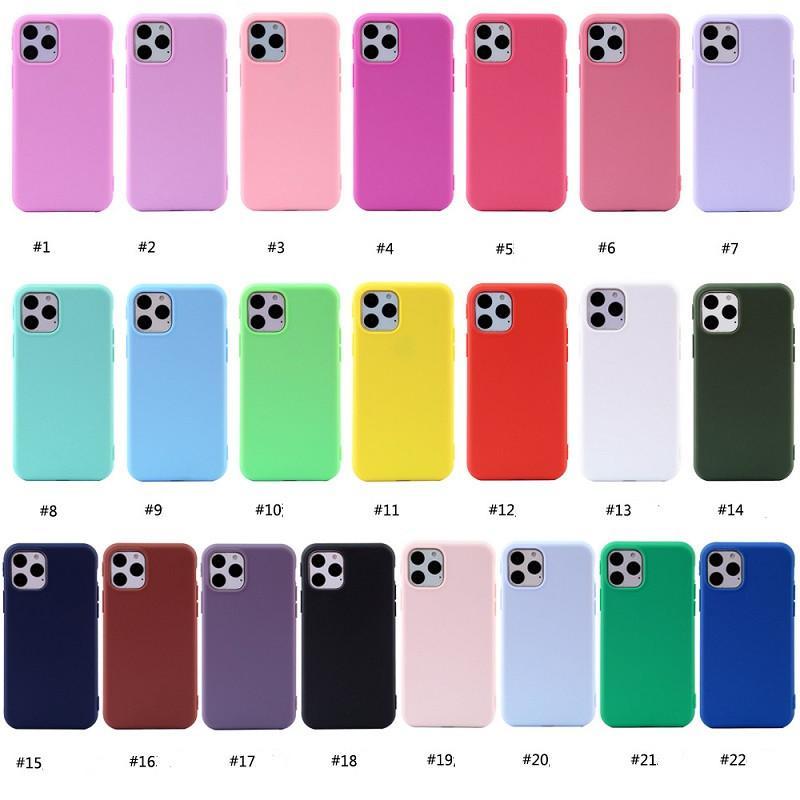للحصول على 11 حالة سمك 1.5 ملم كاندي اللون ماتي لينة TPU صدمات الهاتف الخليوي للحصول على حالة فون برو 11 ماكس برو 11 XR XS MAX 6 7 8 PLUS