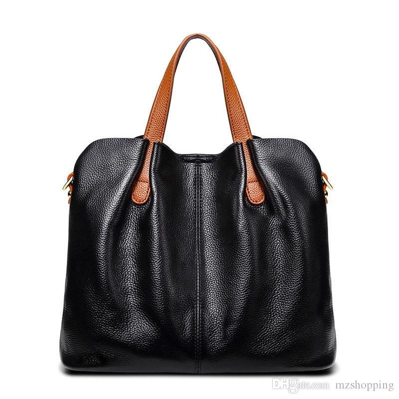 Borse firmate 2019 Nuove borse di moda GRAIN Litchi in pelle Luxury Hangbag Piccola spalla genuina delle donne Coosl