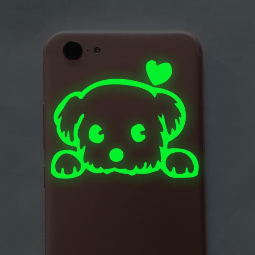Green-light Luminous Cartoon Switch Sticker Glow In The Dark Wall Stickers Home Decor Kids Room Decoration Sticker Decal Cat Fairy Moon Star