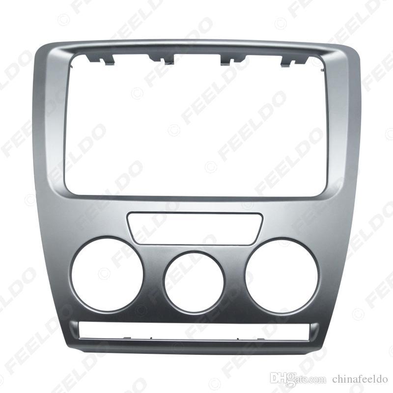 Автомобильный DVD / CD 2DIN Облицовка панели Установочная рамка Facia Trim Установить монтажный комплект для Skoda Octavia (2007 ~ 2009) Руководство A / C #: 3468