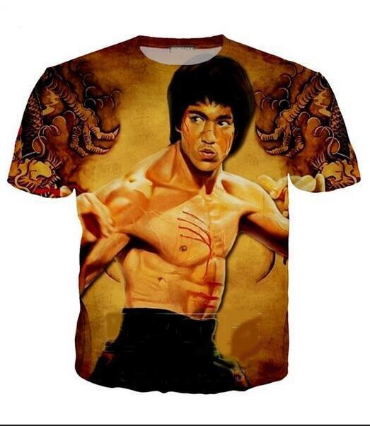 Neueste Art und Weise der Männer / Womans Bruce Lee-Sommer-Art-T-Shirts 3D-lässig T-Shirt Tops Plus Size BB0127 Drucke