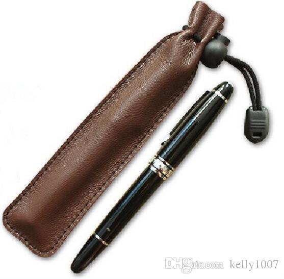 Quality pouch Cowhide vintage high-grade pen bag girdle mouth pen bag single pen bag free shipping