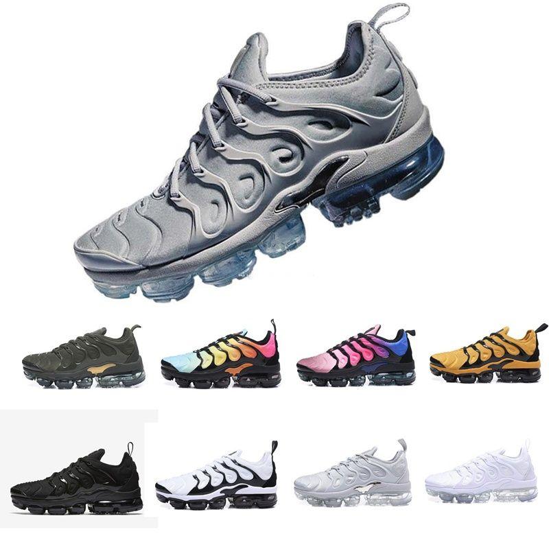 Neue Marke 2019 Männer Frauen Turnschuhe TN Plus Breathable Cusion Desinger Läufer tn beiläufige Schuhe Neue Ankunfts-Farbe EUR 36-45
