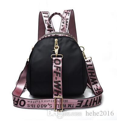 ruban rose sac à dos, sac à dos, lettre rose, sac de Voyage imperméable gris noir, Cartable chez les adolescentes