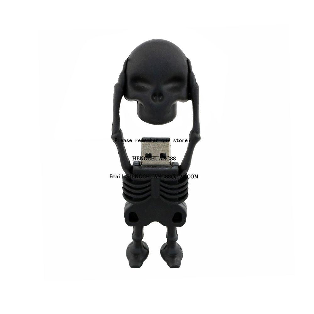 100% Real Capacity USB Flash Drives 16GB 32GB 64GB 128GB New Arrival Fashion Creative Skull Flash Drive Memory Stick Pen Drive 8GB