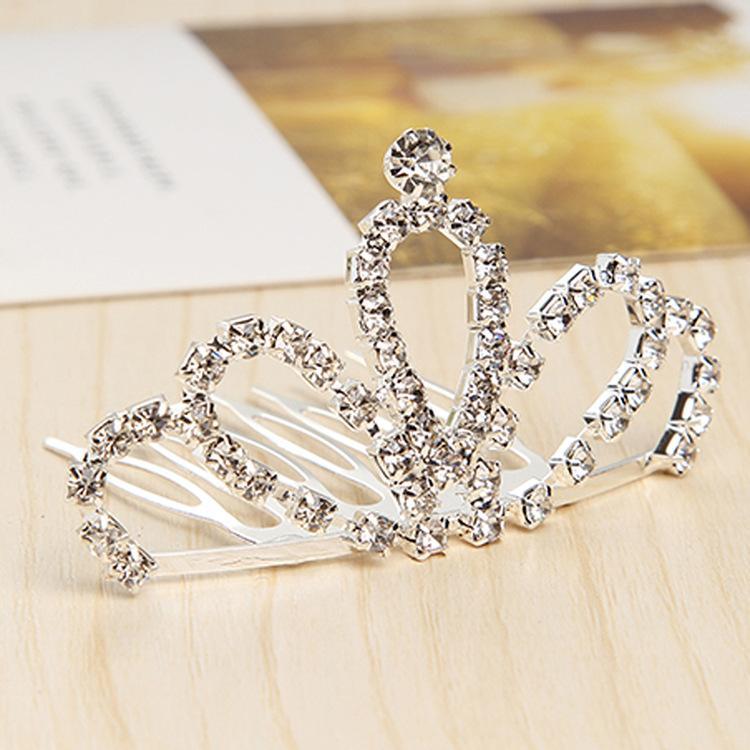 Criativo tendência na moda nova chegada meninas bonitos coroa atacado personalizado alta qualidade coroa de cristal tiaras fecho de cabelo