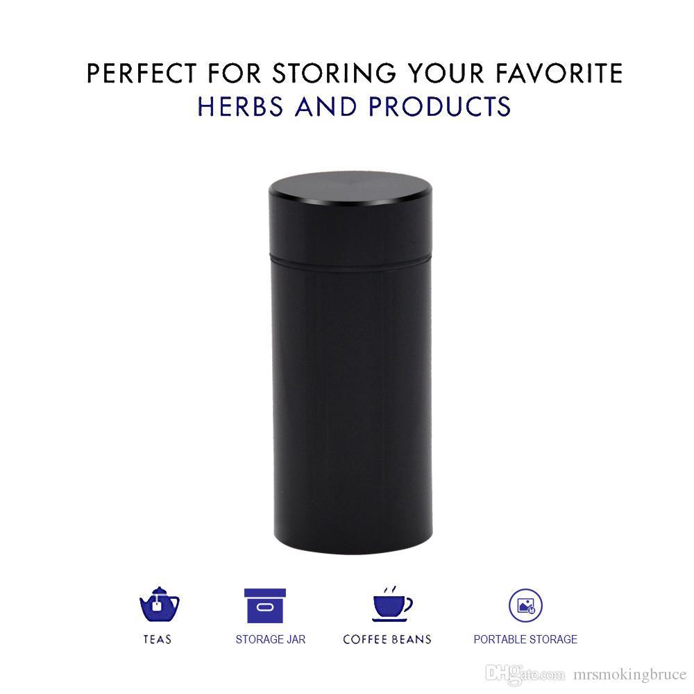 Горвостойкий алюминиевый сплав металлический табачный табачный барабан мультиплевочный вакуумный уплотнитель для хранения контейнер для хранения металла табака курение сухого травы