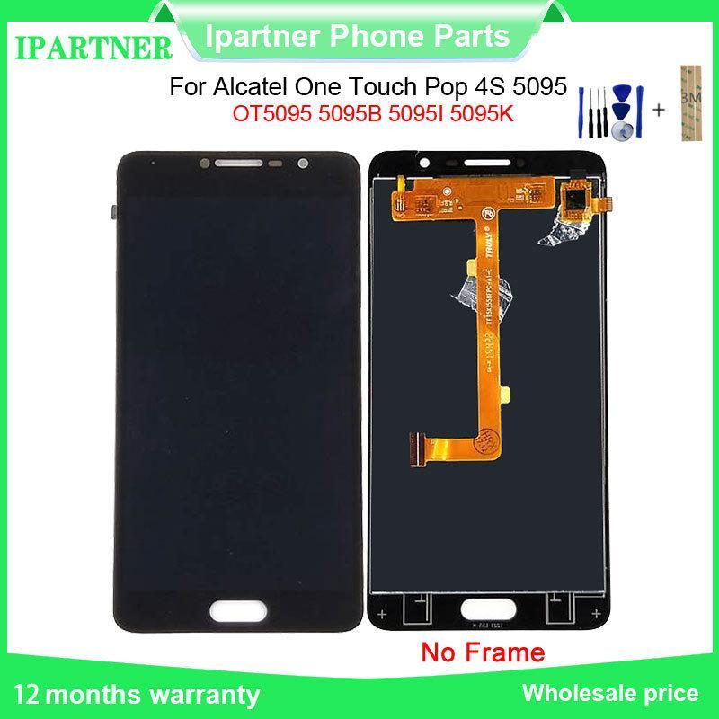 Для Alcatel One Touch Pop 4S 5095 OT5095 5095B 5095I 5095K LCD сенсорный экран Замена Digitizer Ассамблеи для Alcatel 5095