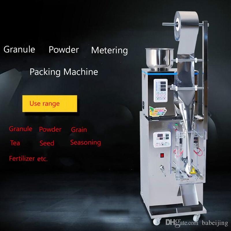 calidad 380W Top máquina de embalaje vertical de polvo de sellado de llenado de bolsas especias máquina de plástico de la máquina de llenado de polvo