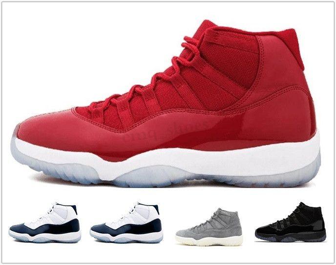 NIKE Air Jordan 11 Retro Bred 11 erkek basketbol ayakkabıları 11 s concord Platin tonu kap ve elbisesi Legend Mavi Metalik Gümüş erkek eğitmen spor sneakers WT03