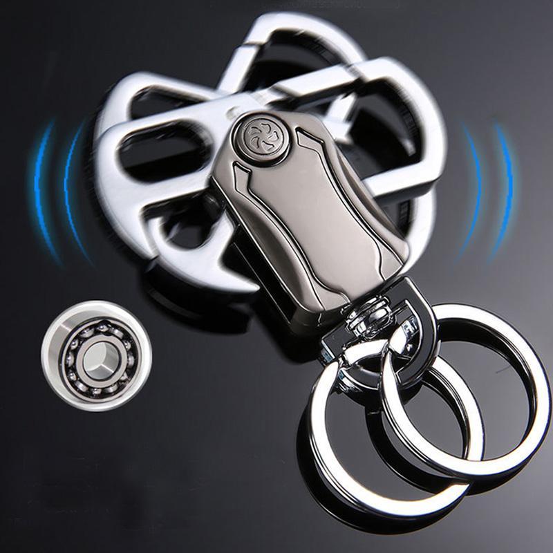 Rotary car key chain 360 degree creative alternative personalized key chain fingertip gyro custom key chain