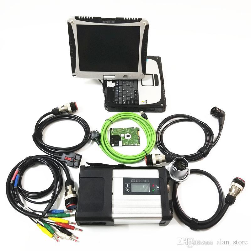 Ноутбук Toughbook CF19 4 ГБ с супер MB STAR C5 с программным обеспечением 2019.05 HDD SSD диагностический инструмент готов к работе MB STAR C5