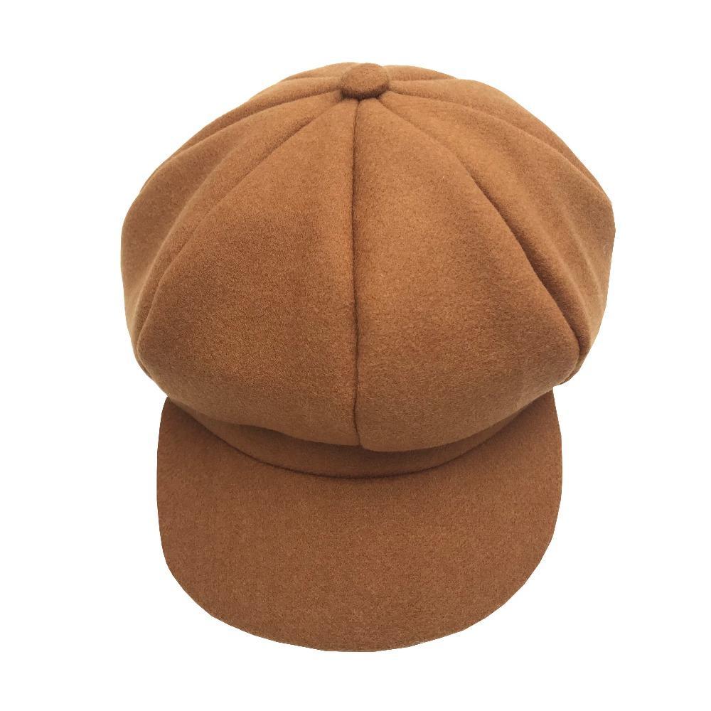 Winter Newsboy Caps Beret Pintor Gusano Newsboys Sombrero Chica Visor Gorra de lana Para Mujeres Vintage Moda elegante