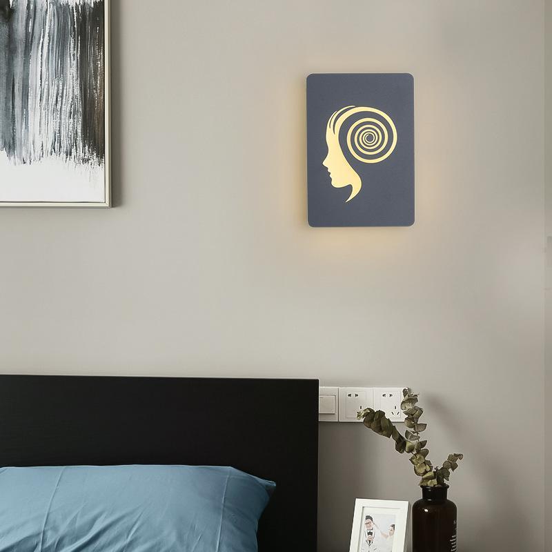 16W Jóvenes estilo creativo de la pintura lámpara de pared de imagen LED Lámparas de pared Decoración para el dormitorio salón moderno de la pared montada noche RW218 luz