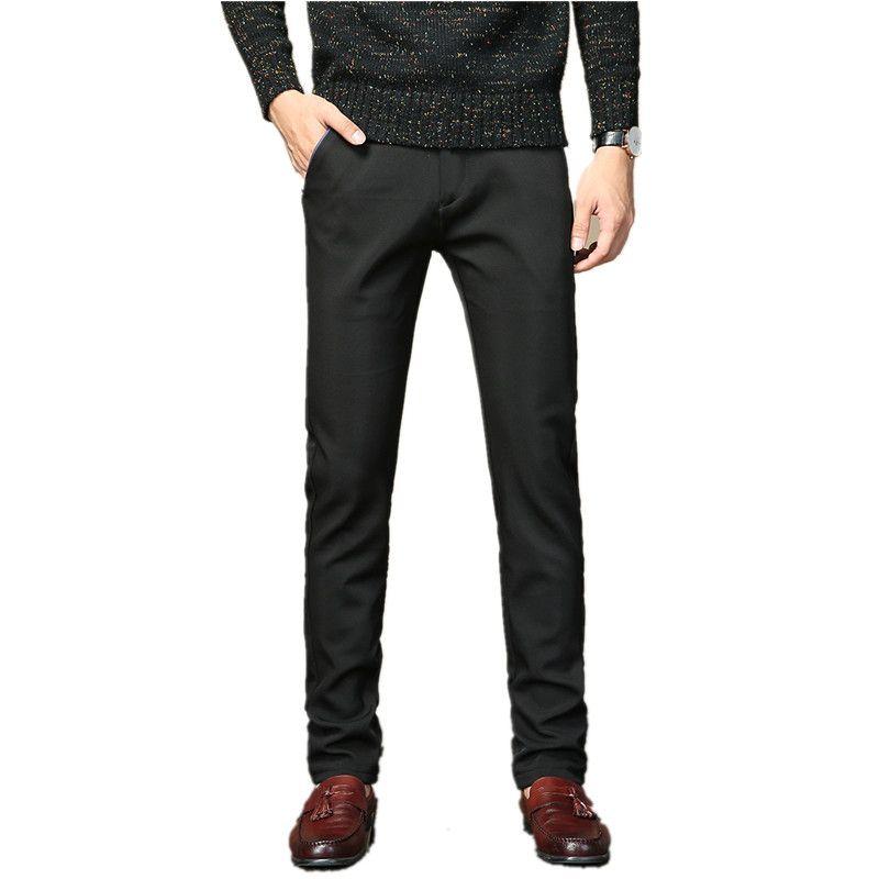Модные новые мужские брюки зимние толстые теплые деловые флисовые пуховые брюки Мужские повседневные брюки тонкие теплые для мужчин брюки Мужские