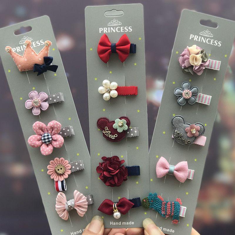 INS horquillas para horquilla de bebé europeas y americanas dulces colores diadema con lazo niña elegante accesorios para lazos para el cabello