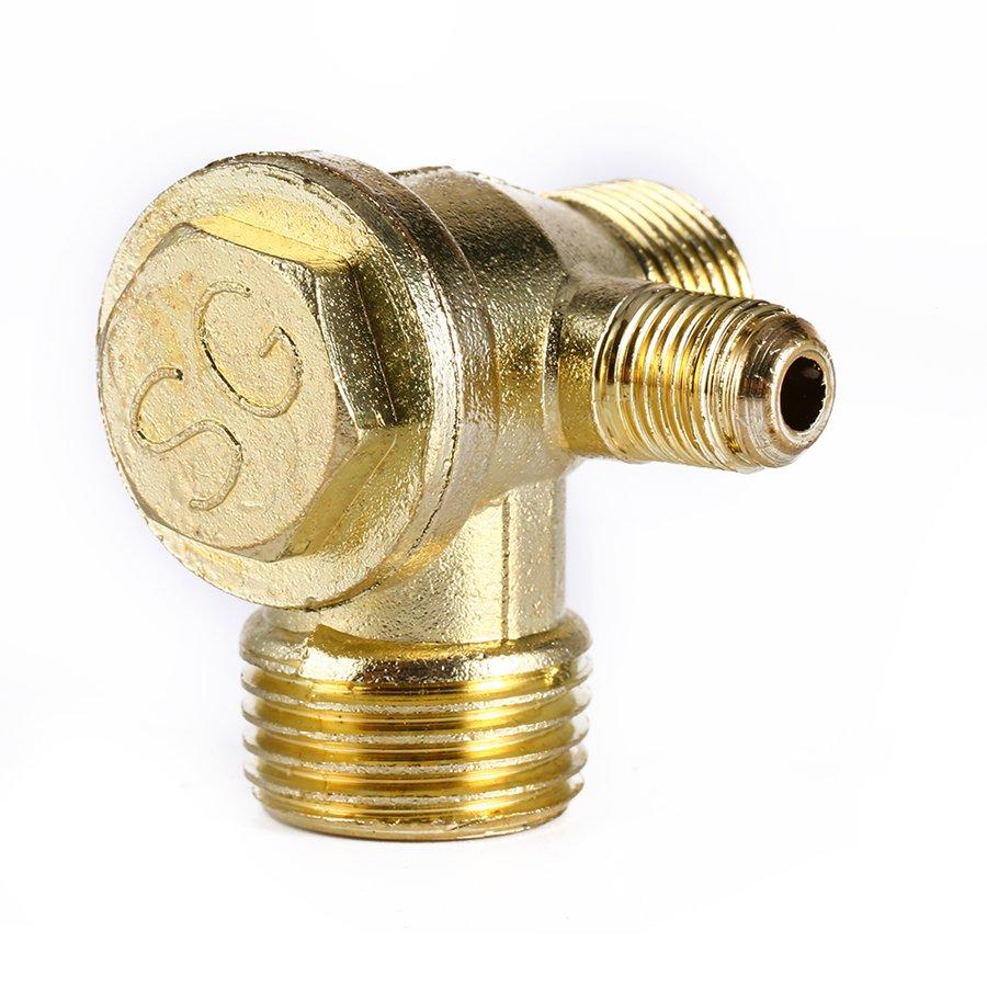 10pcs Air Compressor Check Valve Brass Filled Three-way Unidirectional Check Valve Connect Pipe Fittings Tube Connector Thread Valve