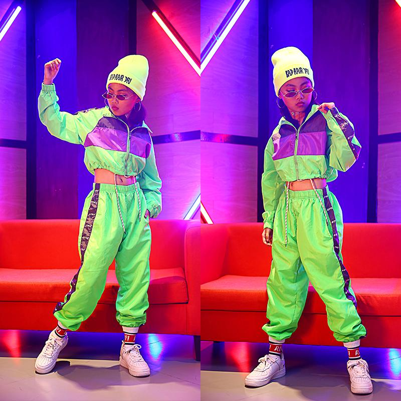 2020 Childrens Hip Hop Dance Wear Girls Jazz Modern Dancing Costumes Fluorescence Clothing Suits Kids Stage Costumes Outfits Dqs2135 From Lovemakeups 25 06 Dhgate Com