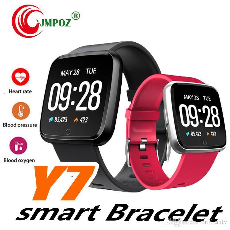 Y7 intelligente Bracciale fitness Mi banda 3 ID115 Inoltre Sangue Sport Ossigeno Pressione Tracker orologio cardiofrequenzimetro Wristband