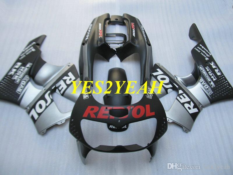 혼다 용 오토바이 페어링 바디 키트 CBR900RR 893 96 97 CBR 900RR CBR900 RR 1996 1997 ABS 실버 블랙 페어링 차체 + 선물 HX20