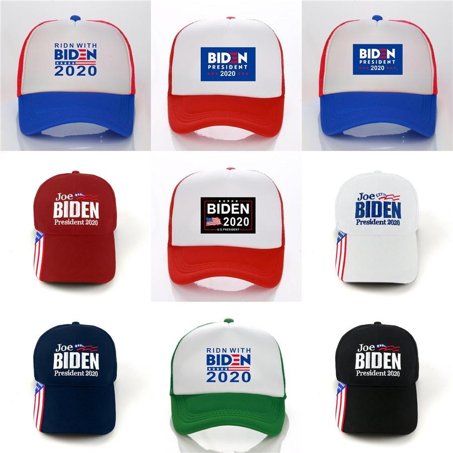 6 Styles Biden 2020 Hat Sports Chapéus 3D bordado boné de beisebol ajustável Verão ao ar livre chapéus da praia Zza2117 # 807