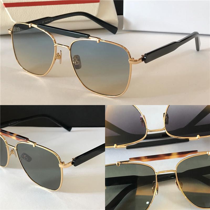 New SF1 Sonnenbrille Modedesigner Metall quadratische Rahmen Gläser hochwertige populäre einfache Art uv 400 Outdoor-Brillen mit Fall