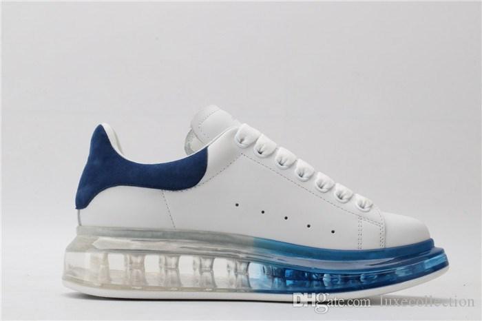 Primavera-estate 2019 scarpe da ginnastica di alta qualità per uomo e donna. Suola spessa in gomma trasparente Sneaker da viaggio per il tempo libero