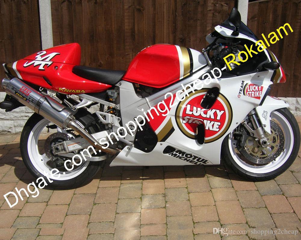 لاكي سترايك هدية لسوزوكي TL1000R TL1000 R 1998 1999 2000 2001 2002 2003 للدراجات النارية هيكل السيارة ما بعد البيع كيت (حقن)