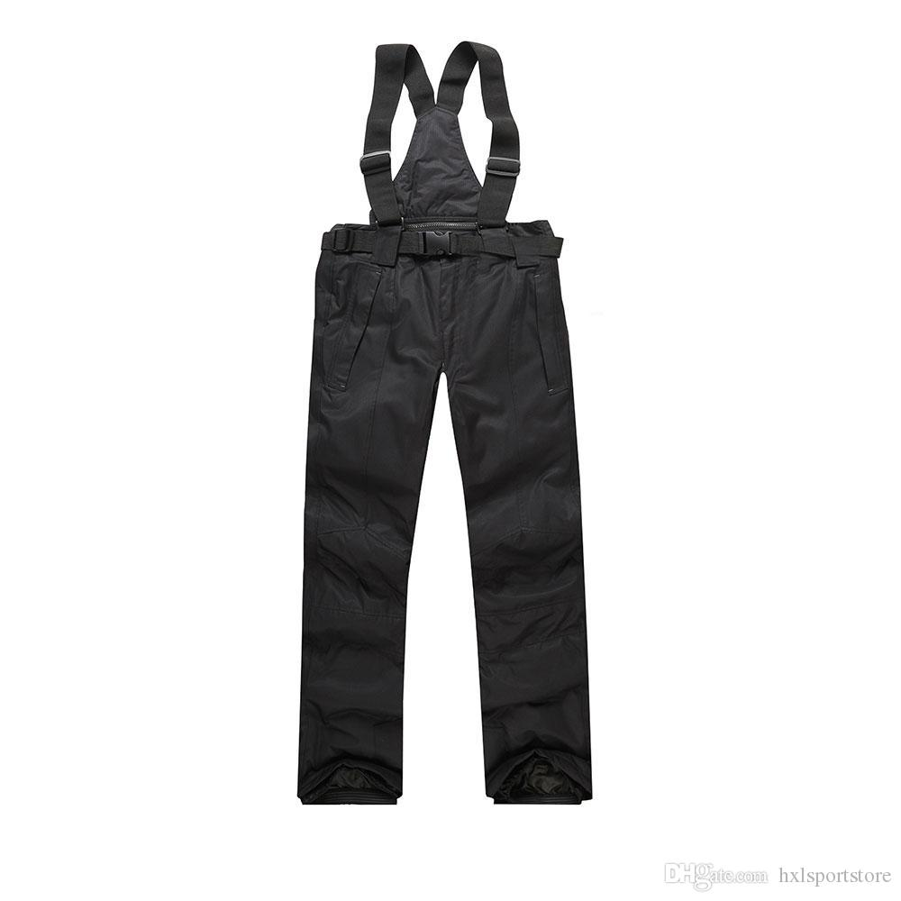 2017 New Men Ski Pants Warm Outdoor Sports Women's Snow Trousers Female Winter Snowboard Hombre With Shoulder Straps Waterproof