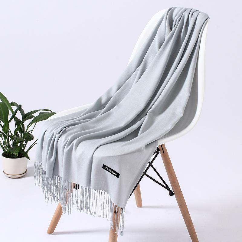 2020 brand women scarf fashion solid winter scarves cashmere shawls and wraps lady pashmina bandana soft long foulard femme