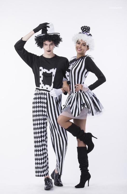 Costumes balle à thème pour adultes Femmes et Hommes Classique Costumes Cosplay Halloween Halloween Costumes de cirque clown Couples mascarade