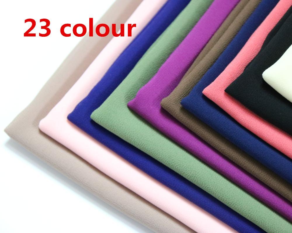 HOT بيع عالية الجودة 48 لون لطيف سهل فقاعة الشيفون شال أزياء شعبية النساء ارتداء رئيس مسلم الحجاب شال وشاح 180 * 50CM T200609