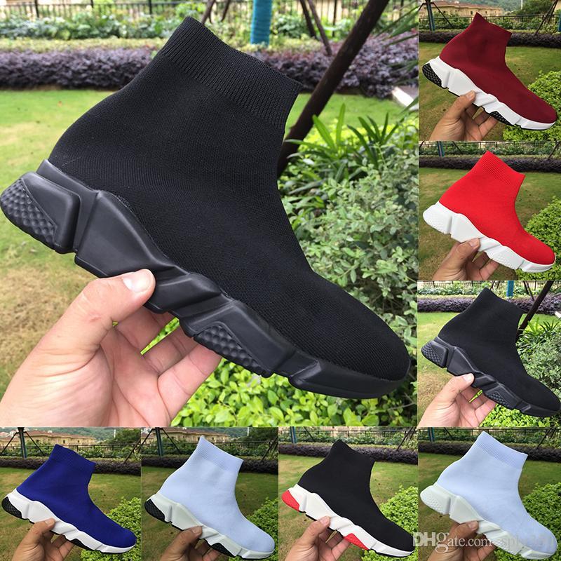 2021 En Kaliteli Paris Hız Trainer Siyah Kırmızı Erkek Platformu Ayakkabıları Gri Üçlü Siyah Beyaz Kraliyet Erkek Kadın Eğitmenler Sneakers