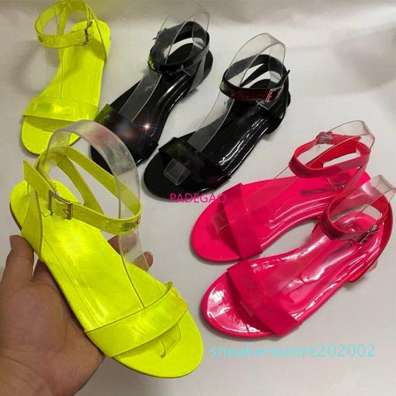 Europas heiße Sommer-Frauen Sandalen Mode Neon Slipper neuer Qualitäts-flache Schuhe Slipper Whosale Frauen Sandelholz-Tropfen-Schiffs-s02