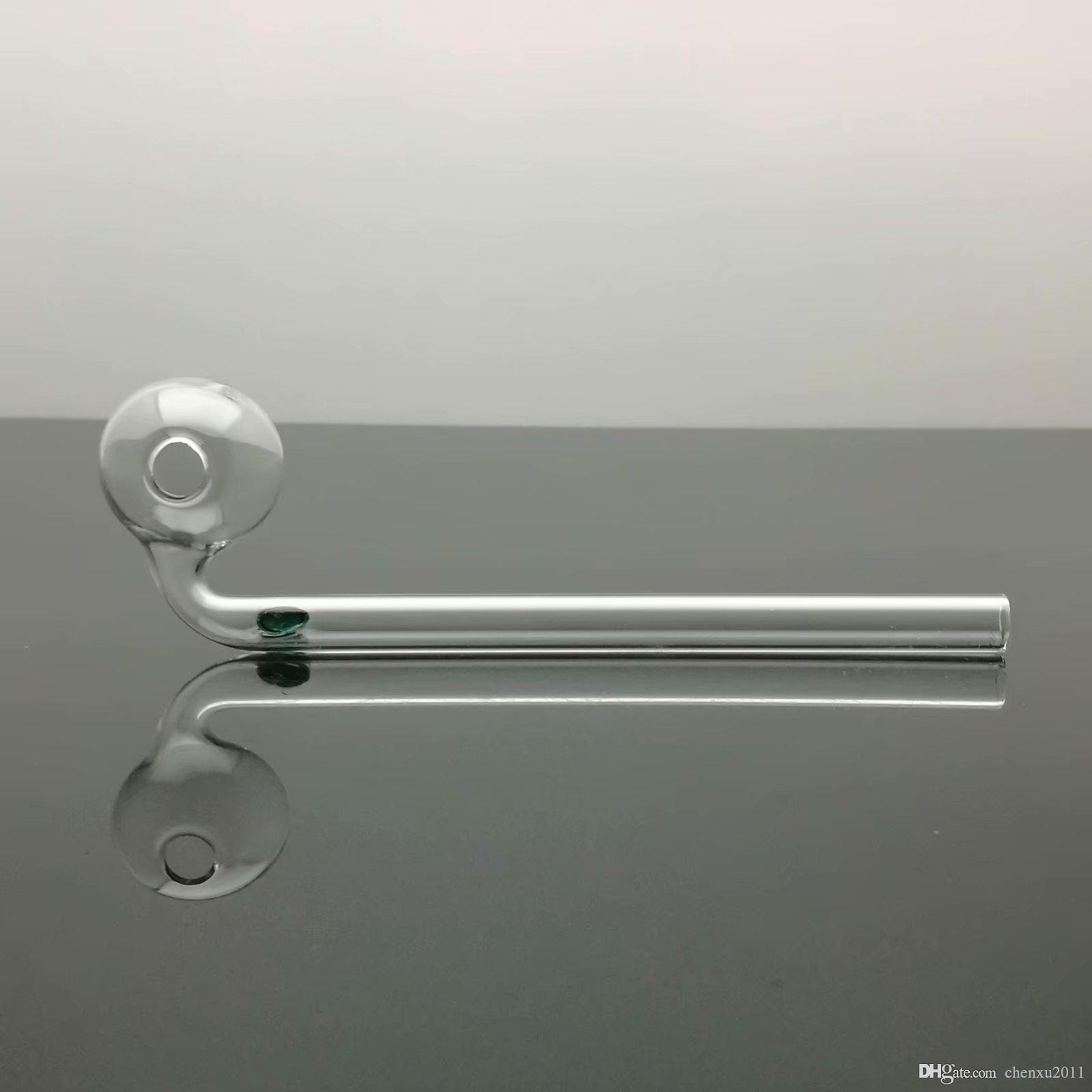 Classic bolla di vetro lunga curva vaso di vetro Bong Oil Burner Pipe Water piattaforme petrolifere fumatori spedizione gratuita