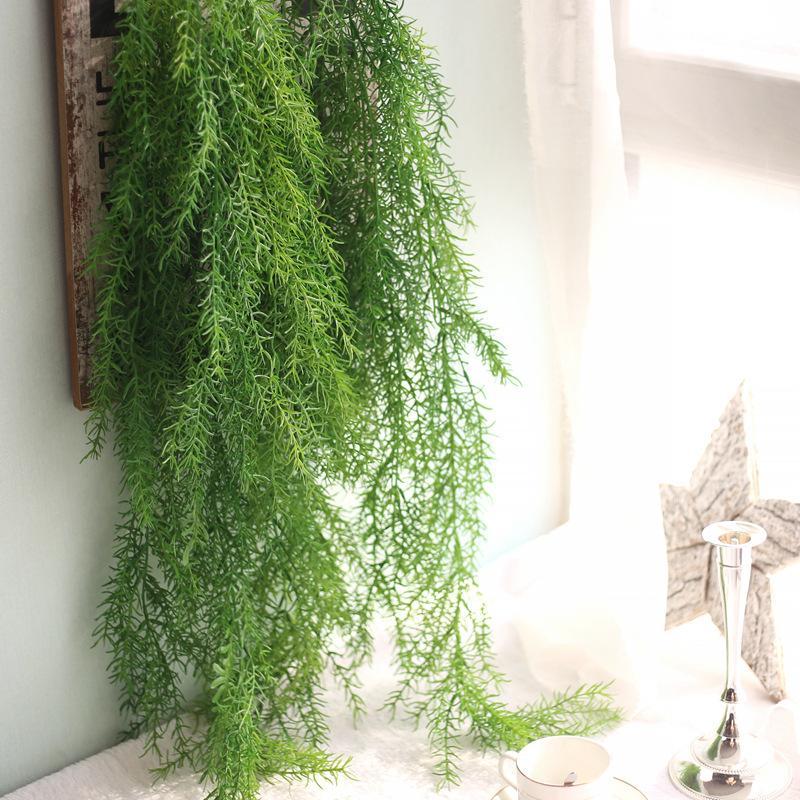 3pcs / lot 105cm de long plantes artificielles aiguilles de pin pour la décoration de la maison décoration murale de jardin faux suspendu plante de vigne feuilles
