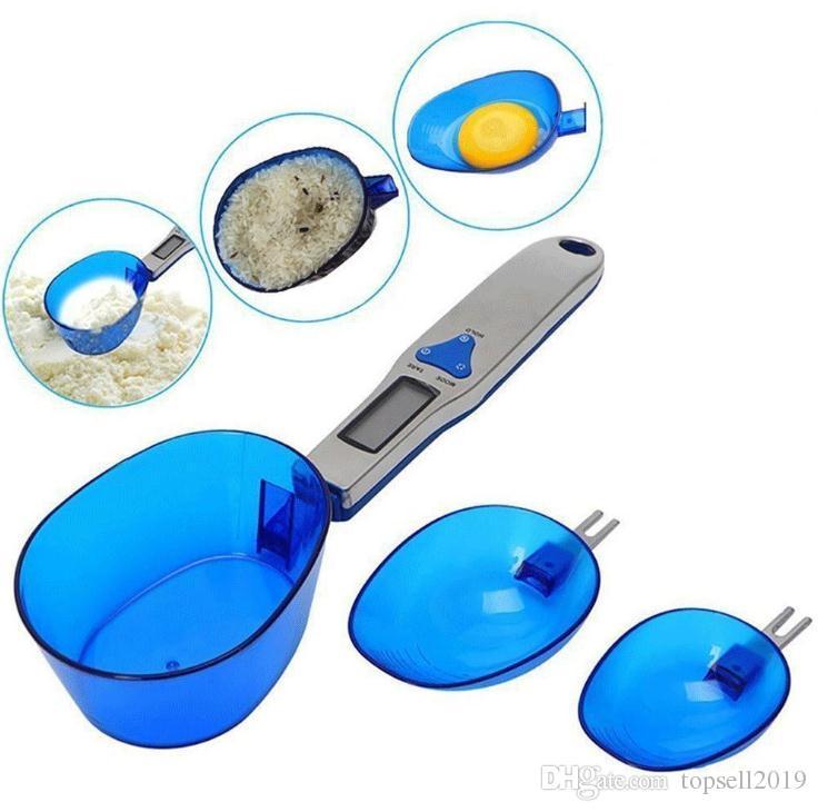 Новый стиль 500 г/0,1 г портативные светодиодные электронные весы мерная ложка пищевой диеты почтовый синий кухня цифровая шкала измерительный инструмент SN1888