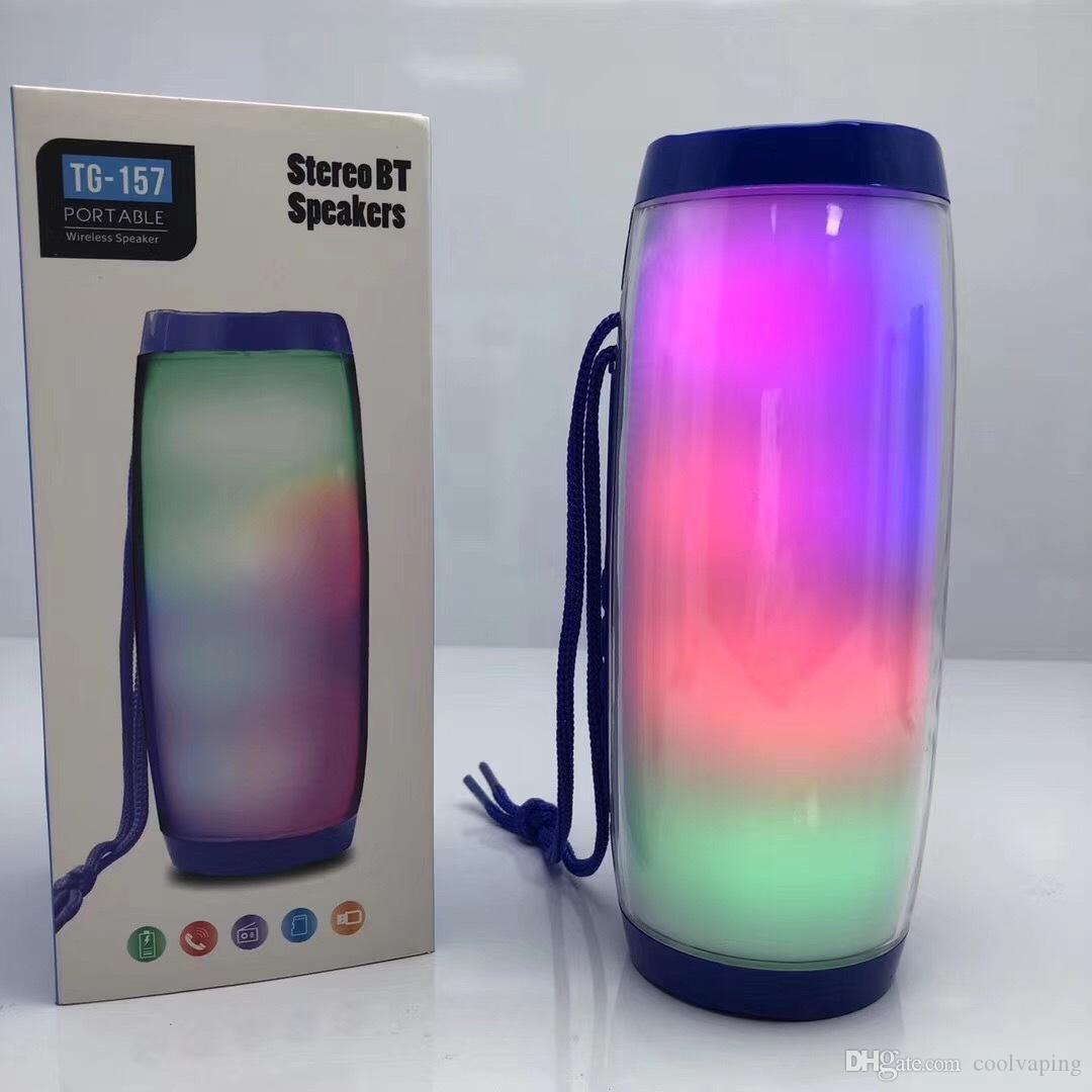 TG157 portátil LED Bluetooth Wireless Speaker Waterproof FM Rádio Mini Coluna Baixo MP3 Subwoofer USB TV Sound Bar