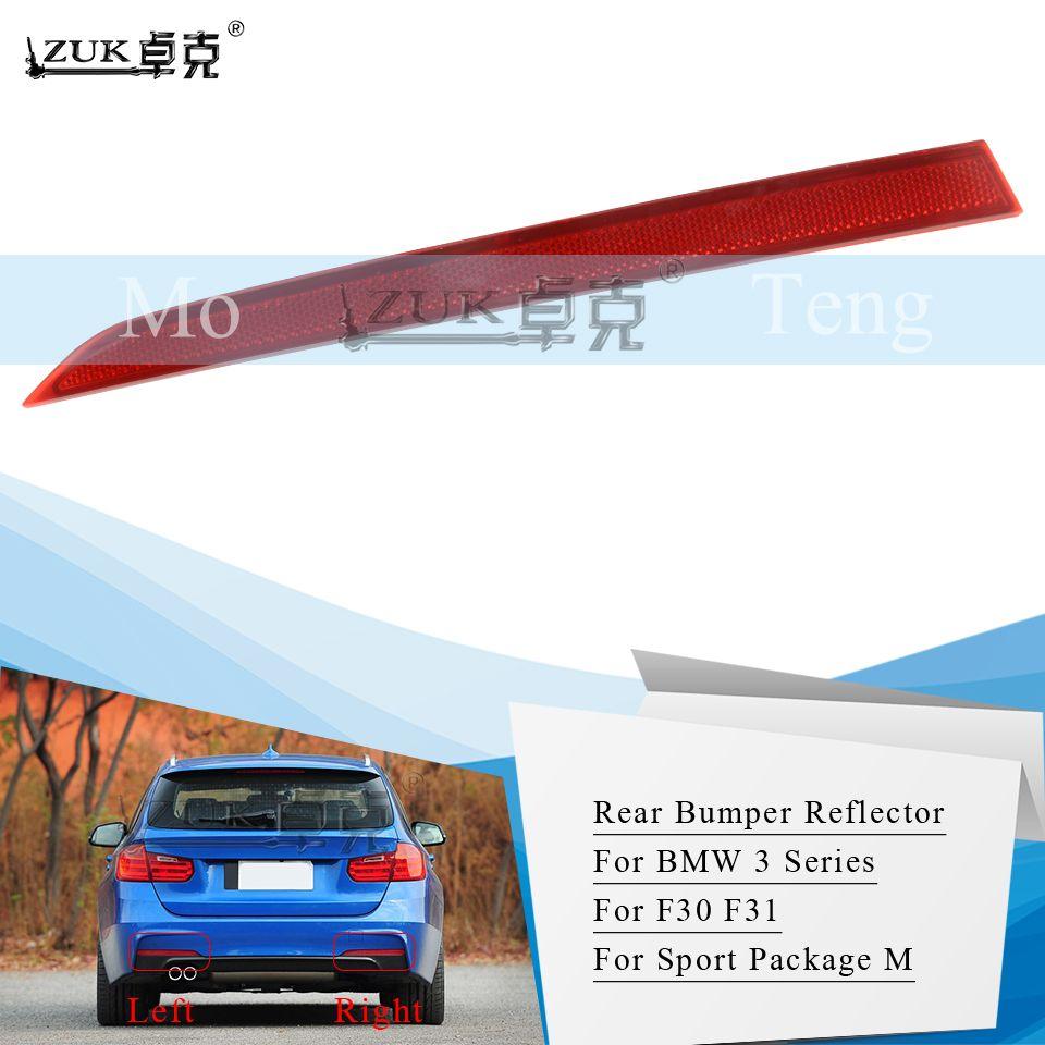 Spor Paketi M 316 318 320 325 328 330 için ZUK Arka Tampon Reflektör Sis Işık Sis Lambası İçin BMW 3 SERİSİ F30 F31 Yıl 11-19