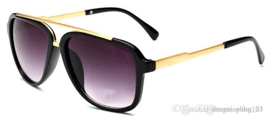 브랜드 남성 빈티지 스퀘어 선글라스 렌즈 Eyewear0139 액세서리 남성 일 안경 남성 여성 악어