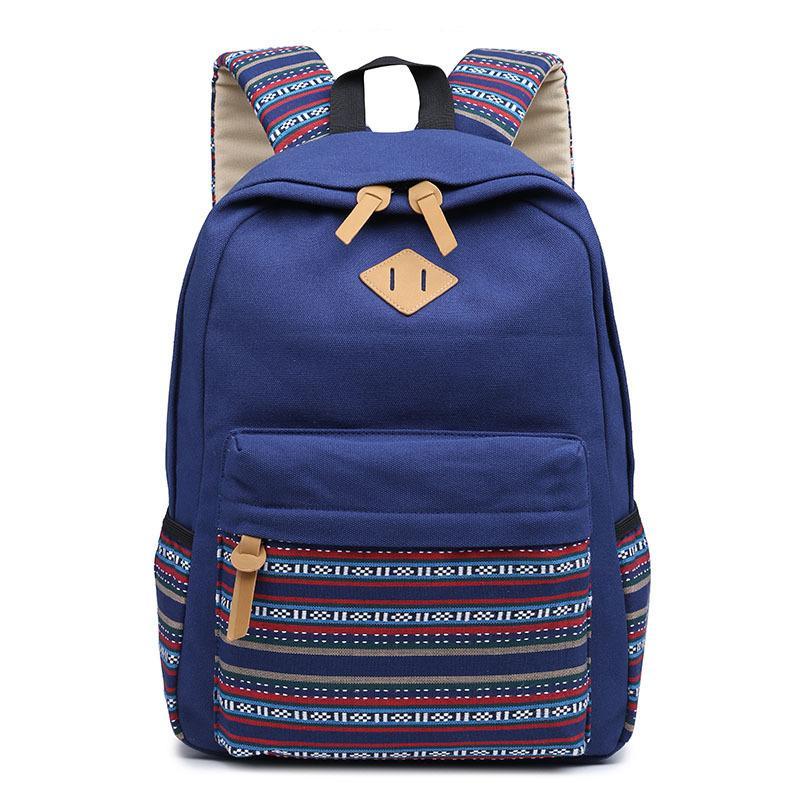 2019 modèles standards européens de sac d'épaule des femmes de tendance du commerce extérieur étudiants japonais et coréens sac à dos usine de sac à main en toile
