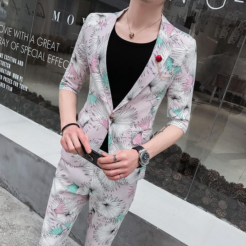 2020 Teen Mens Blazers Pants Summer Fashion Casual Men Two Piece Set Slim Design Asian Size S M L Xl Xxl From Honey111 61 36 Dhgate Com