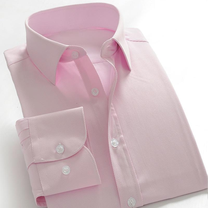 Excelente qualidade Confortável Slim Fit Botão Collar Negócios Trabalho Homens Casual shirt Tops Mens Camisas de vestido Camisa Masculina