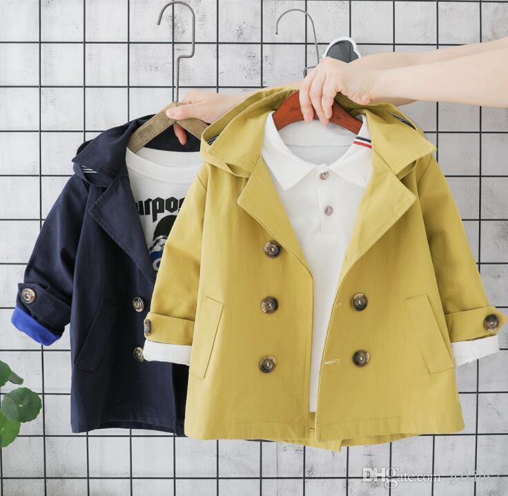INS New kids outfits 2019 Autumn Winter kids clothes Children's wind breaker jacket Korean version free shipping