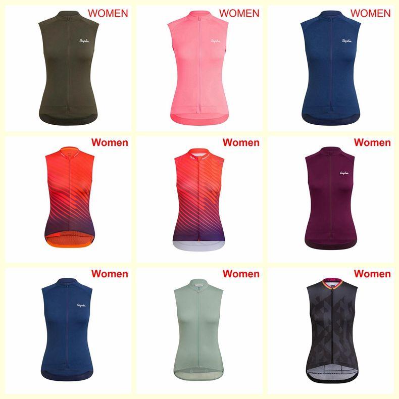 squadra RAPHA ciclismo senza maniche maglia delle donne della maglia Estate In bicicletta senza maniche in jersey strada MTB abbigliamento rapida asciugatura B622-22