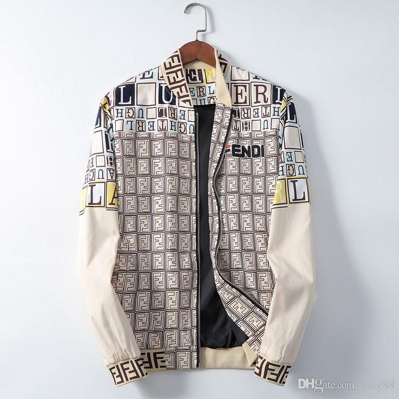 Marka Yeni Erkek Tasarımcı ceketler Moda Sıcak ceketler Palto Hip Hop Spor Uzun Kollu Ceket Fermuarlar Erkekler Ceketler