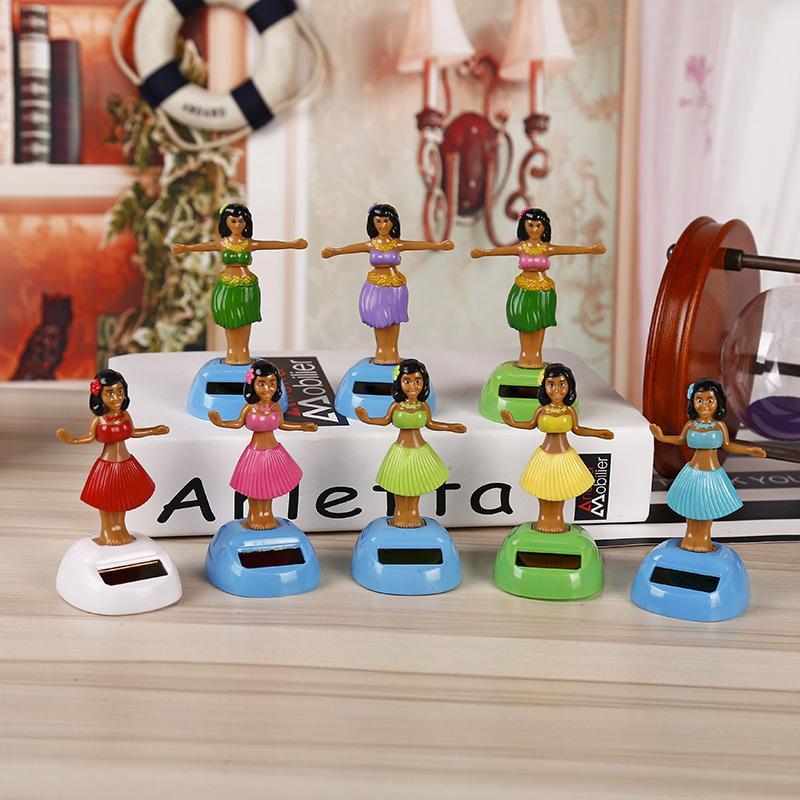 Car pendant creative swing beach girls custom solar car accessories children toys Halloween gifts