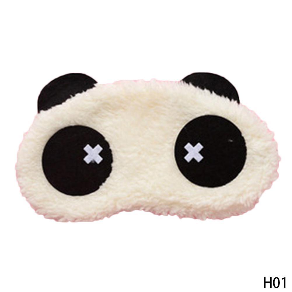New rosto bonito máscara de olho de panda branco Eyeshade Sombreamento Sono Algodão Goggles Eye mask sono Cobrir cuidados de saúde